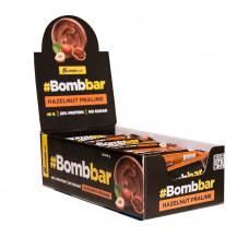 Протеин. батончик в шок. (фундучное пралине 40г), Bombbar