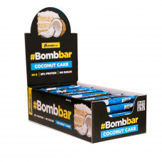 Протеин. батончик в шок. (кокосовый торт 40г),  Bombbar