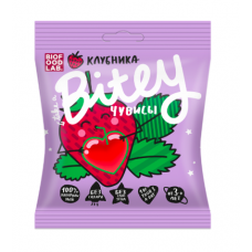 Фруктовый мармелад (чувисы) клубника, Bitey